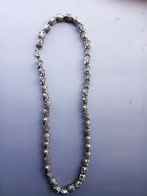 Collection China Hand Knit Seedling Silver Buddha Head Necklace