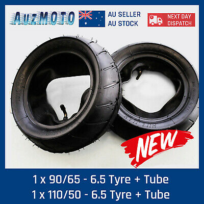 90/65-6.5 Front And 110/50-6.5 Rear Tyre Tires Inner Tubes 49cc 2-Stroke