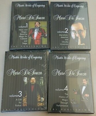 Factored Sealed 4 DVD - Marc DeSouza Master Works of Conjuring - Illusion Magic