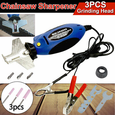 12V Chain Saw Electric Chainsaw Sharpener Mini Grinder Manual Hold Tool 25000RPM