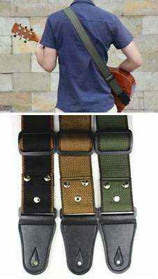 New Leather ends Adjustable Guitar Strap For Electric Acoustic Guitar Bass