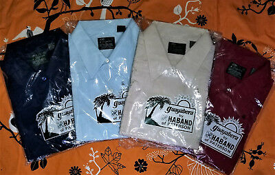 4 vintage BRAND NEW IN PACKAGE HABAND GUAYABERA Embroidered SHIRT LOT 4 XXL 2X