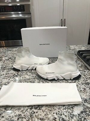 Pre-Owned Women's Balenciaga Speed Trainers Sneakers White 38 (US 8)