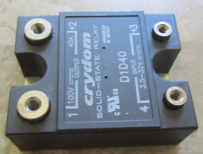 New Crydom D1D40 3.5-32V Input 100V 40A Output Solid State Relay, Free Shipping!