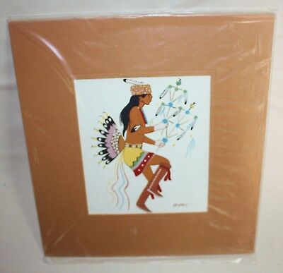 VINTAGE UNOPENED! Beatien Yazz Native American (Navajo) Artist Silk Screen Print