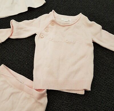 NWT . Girls Pure Baby Cardigan jumper, pale pink,  Sz 00 / 3-6 months RRP $54.95