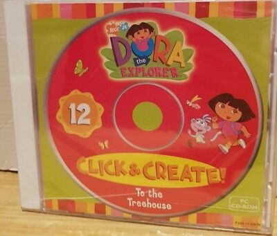 Dora Explorer PC WINDOWS CD Click & Create #12 To The Treehouse