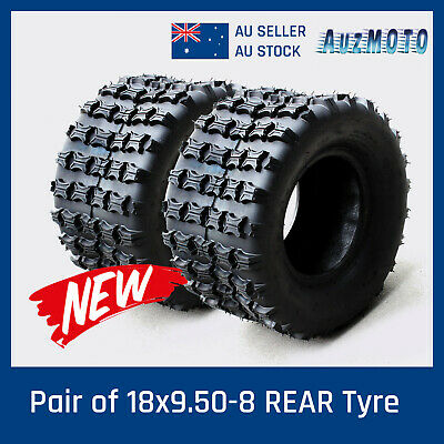 Pair 18x9.5-8 8 inch REAR Back Tyre tire for ATV Quad Bike Buggy Ride on Mower