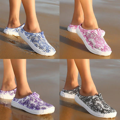 Women Summer Hollow-out Sandals Breathable Slippers Slip-on Flats Shoes 6 Sizes