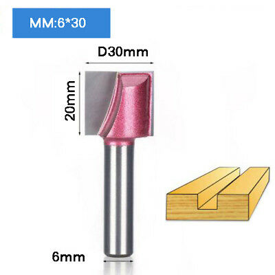 6*30mm Cleaning Bottom Engraving Bit Woodworking Router Bit CNC Milling Cutter