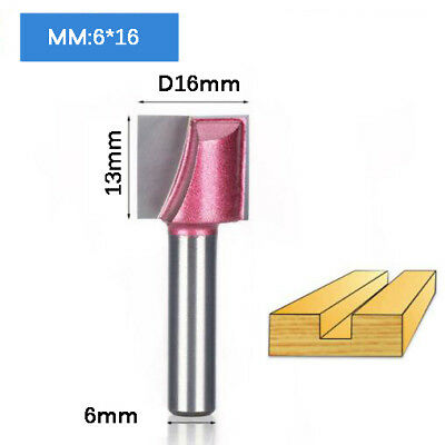 6*16mm Cleaning Bottom Engraving Bit Woodworking Router Bit CNC Milling Cutter