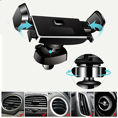 Universal 360° Rotation PC+ABS Car Air Vent Mount Mobile Phone Holder Mount BACK