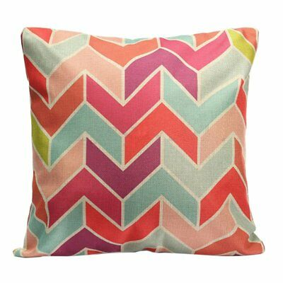 Geometric Flower Vintage Cotton Linen Pillow Case Cushion Cover Home Sofa D V7R3