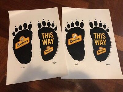 Bundaberg Rum Bear Feet Stickers (2 Pair)