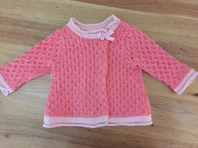 Jack and Milly baby girls cardigan size 000
