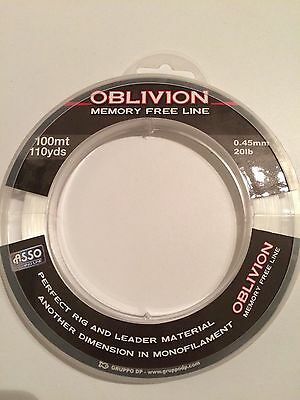 ASSO OBLIVION 20lb 100 meter Clear Sea Fishing Line Memory free line