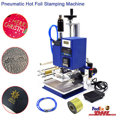 Hot Foil Stamping Machine 10x13CM 220V Air Pneumatic Leather Embossing Bronzing