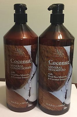 Dead Sea Coconut Mineral Shampoo & Conditioner 33.8fl Oz Each