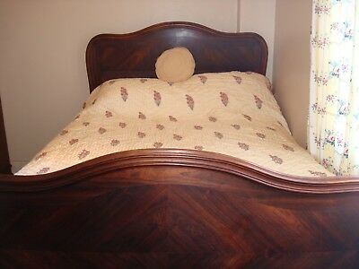 Antique French Louis XV Rosewood Double Bed