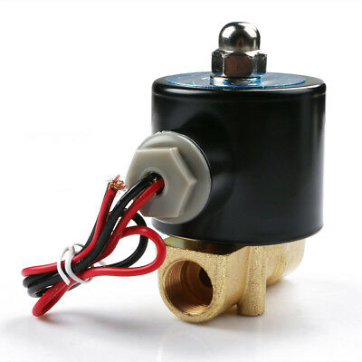 3/8″DC12 Alloy Electric Solenoid Valve N/C Gas Water Fuel Air Solid Coil Newest