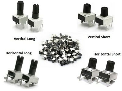 Horizontal/Vertical 15mm 20mm Shaft Lin Linear Potentiometer POT B10K-B100K Ohm