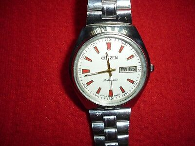 Vintage Mens Citizen Automatic Watch. Swiss Made. Good Working Order.