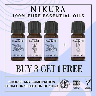 10ml Essential Oils 100% Pure & Natural (Aromatherapy) - Multi Listing - Nikura