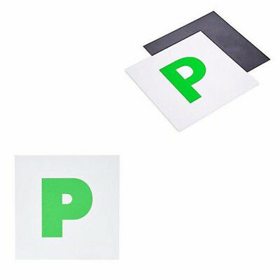 2 x Fully Magnetic Passing passed New Driver Green 'P' Car Vehicle Plates Plate