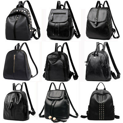 Women Lady Leather Backpack Travel Shoulder School Bag Satchel Rucksack Handbag