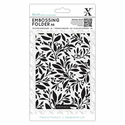 Xcut A6 Scrapbook Craft Embossing Folder - Festive Florals (105x148mm)