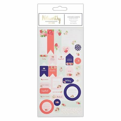 Noteworthy - Graphic Florals Desk Stationery Collection - Sticker Sheet (42pcs)