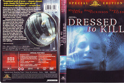 Dressed to Kill * US DVD * Special UNRATED Edition, Michael Caine, Brian DePalma