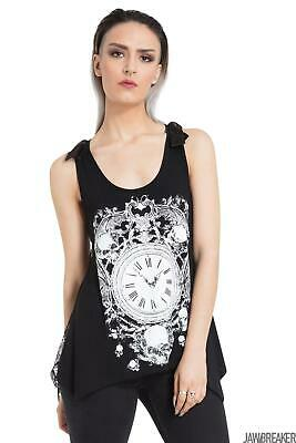 JAWBREAKER GREY OUIJA BOARD OCCULT LACE BACK LOOSE FIT BOW VEST TOP GOTH WITCH