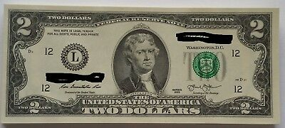 Crisp 2013 Uncirculated Usa $2 Two Dollar Bill Note Sequential Order Rare Gift!!