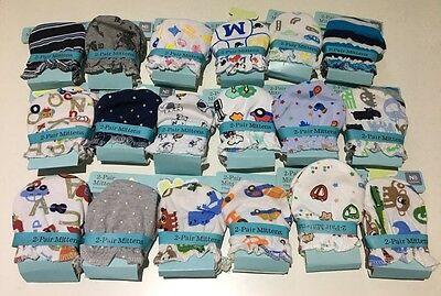 4 Pairs High Quality Baby Newborn Mittens  cotton Gloves for Boys Cute designs