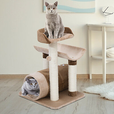 28-inch Cat Tree Scratching Pet Furniture Tunnel