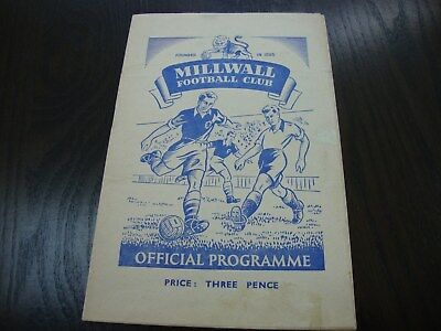 1951-52 FA CUP 1st ROUND MILLWALL v PLYMOUTH 24-11-51