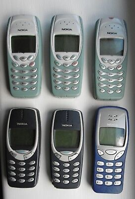 JOB LOT OF 6 x VINTAGE NOKIA MOBILE PHONES - FOR PARTS SPARES COLLECTING ONLY