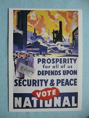 Vote National, Political Poster Picture Postcard