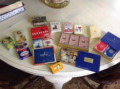Vintage Playing Cards Double Decks Lot of 14 Plus Rook Game