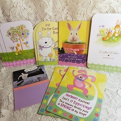 Hallmark Easter Greeting Cards All Bunny Rabbits Mixed Lot of 10