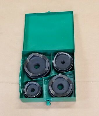 "Greenlee 2"" 2-1/2"" 3"" 4"" Round Metal Knockout Set Punch And Die Set #2 👍"