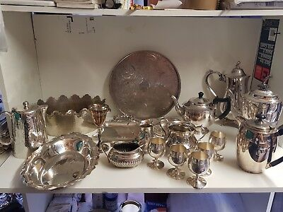 a job lot of 19 vintage silver plated items.9 kgs in weight.