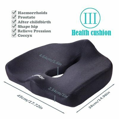 Memory Foam Seat Cushion Car Chair Office Sciatica Prostate Back Pain Relief NEW