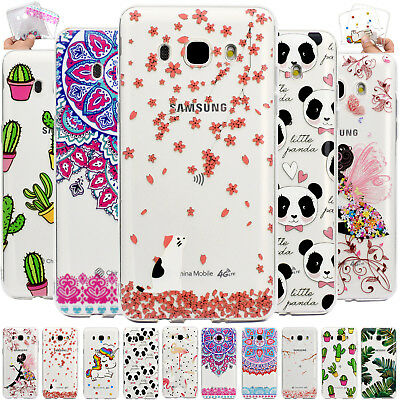 Protective Print Soft TPU Case Transparent Phone Cover For Samsung Galaxy Phones