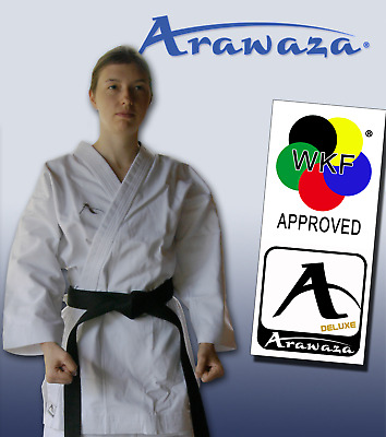 BRAND NEW Arawaza KATA DELUXE Karate Suit Gi MARTIAL ARTS 12oz WKF APPROVED