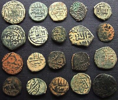 ISLAMIC Ancient and Medieval Lot of 20 Bronze and copper coins Various dynasties