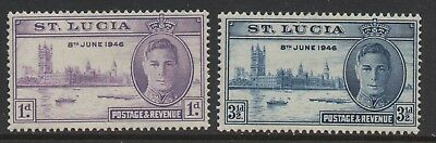 St. Lucia - Peace & Victory - MNH Pair