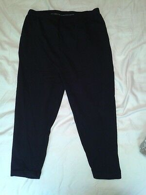 "Maternity Black over bump Cycling shorts / crop leggings 18""L size 14"
