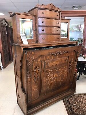 BEAUTIFUL RARE 1800's MURPHY BED with LINEN DRAWERS ~ Stunning piece